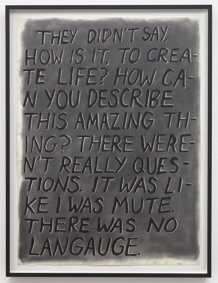 'There Was No Language (Recto)', 2017, ett konstverk av Carmen Winant