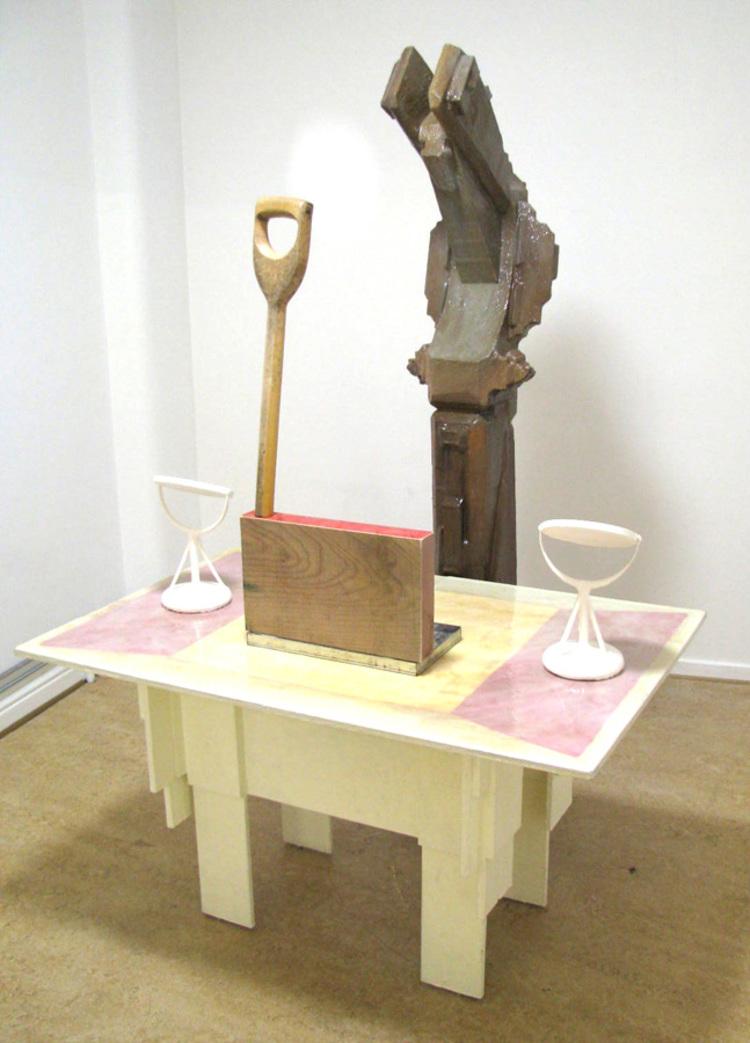 'Receptionisten', 2015, ett konstverk av Max Ockborn
