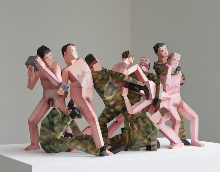 'Battle of the nudes', 2017, ett konstverk av Mattias Nordéus