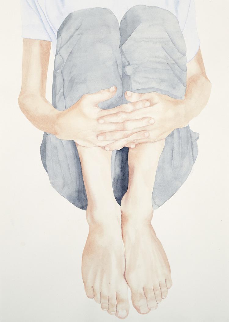'Hugging trees', 2017, ett konstverk av Vinicius dos Santos
