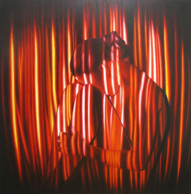 'Cagey II', 2016, ett konstverk av Rodion Petroff