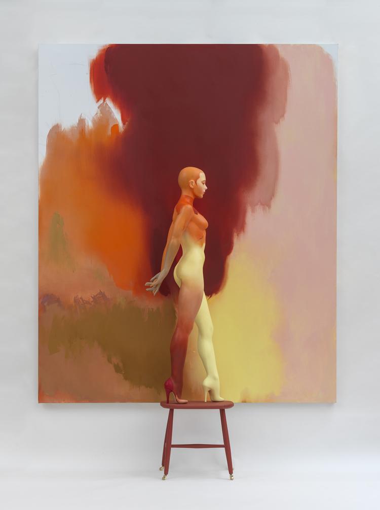 'Fall', ett konstverk av Allen Jones