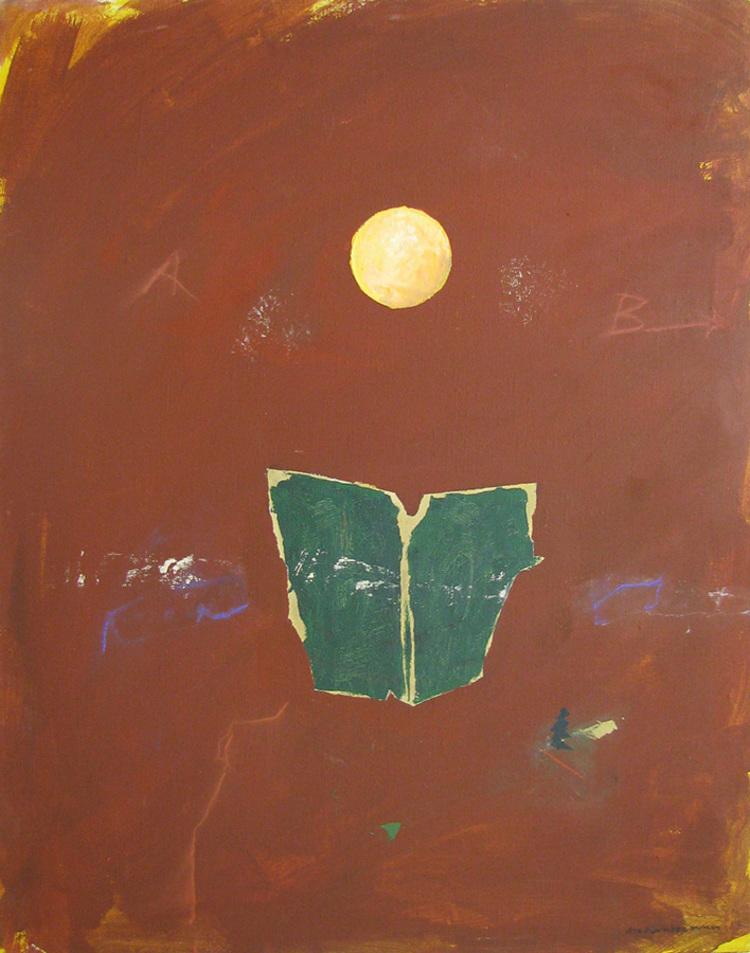 'Den gröna boken', 2017, ett konstverk av Lennart Aschenbrenner