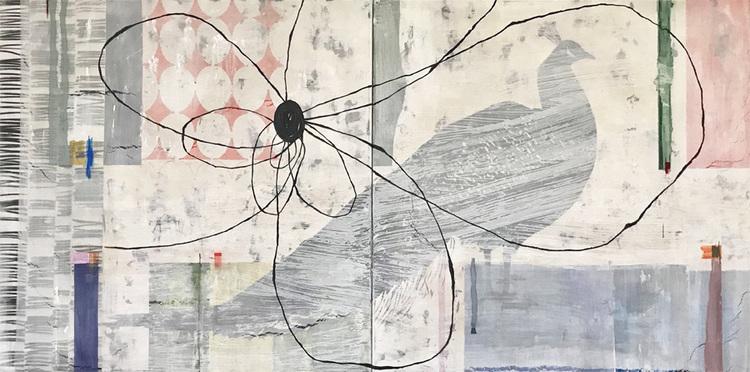 'Walking on thin ice III', 2017, ett konstverk av Jet-te L Ranning