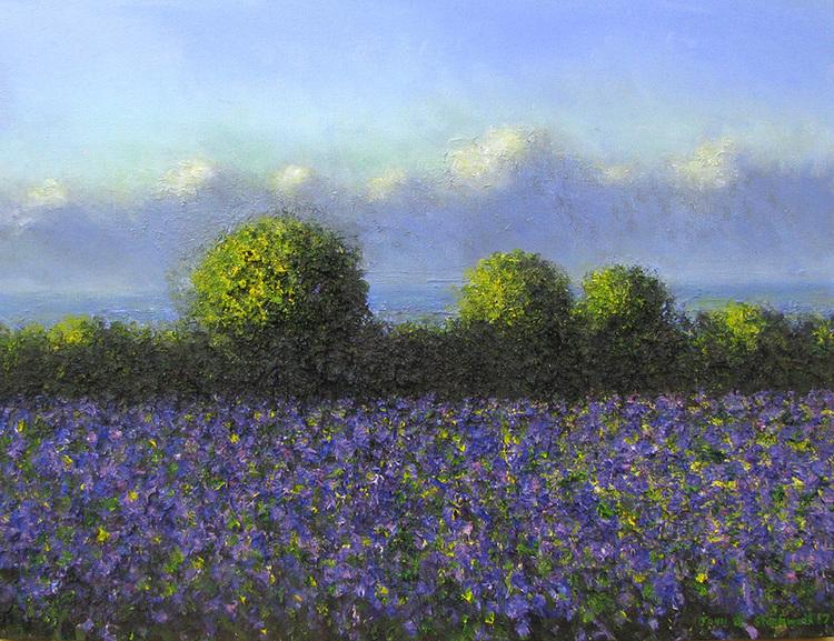 'Purple Wave', 2017, ett konstverk av John Stockwell