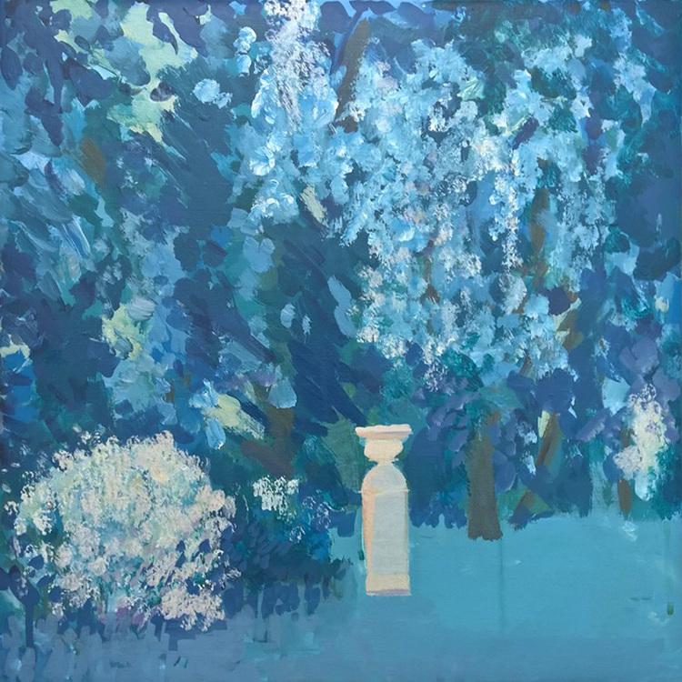 'Blå Borghese', 2017, ett konstverk av Anita Viola