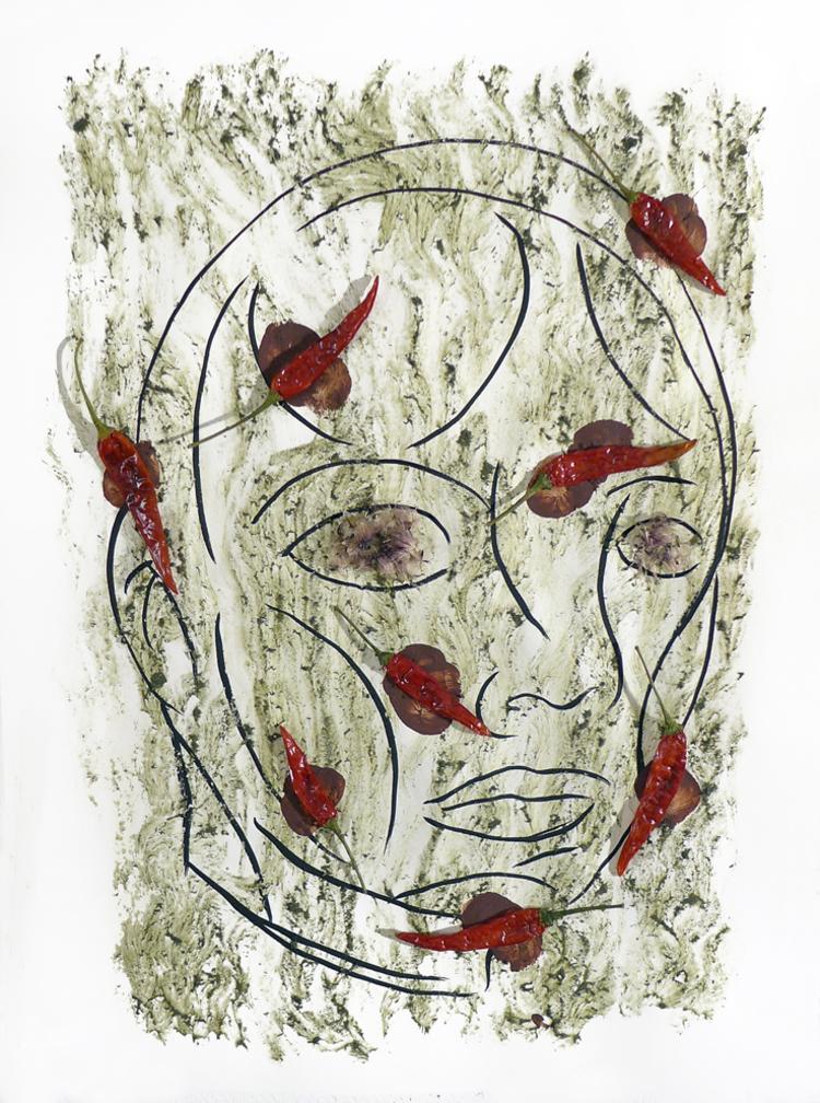 'Bortom yta och innehåll', 2017, ett konstverk av Carlos Capelán
