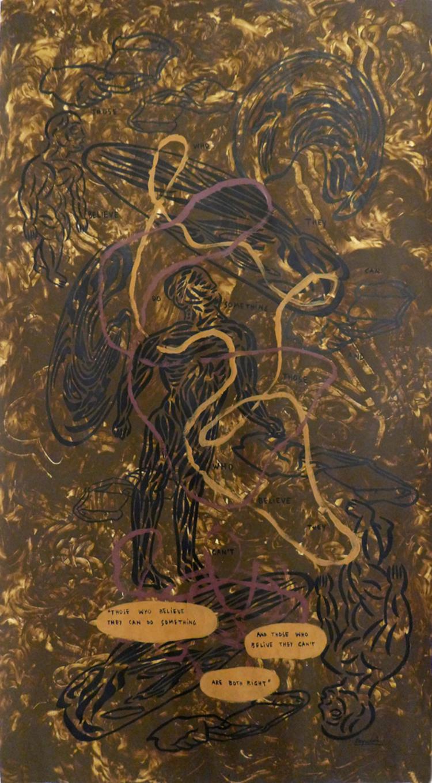 'En gemensam evolutionär historia', 2017, ett konstverk av Carlos Capelán