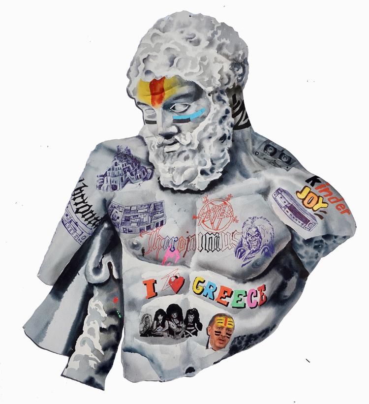'En grekisk uppenbarelse', 2016, ett konstverk av Erik Hårdstedt