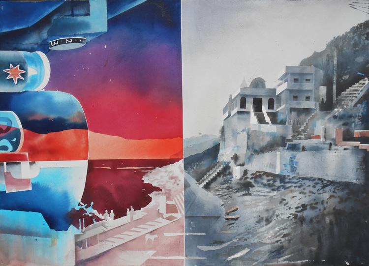 'Omkareshwar', 2014, ett konstverk av Erik Hårdstedt