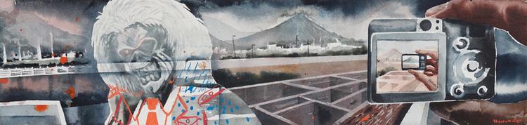 'Eddie i Pushkar', 2017, ett konstverk av Erik Hårdstedt