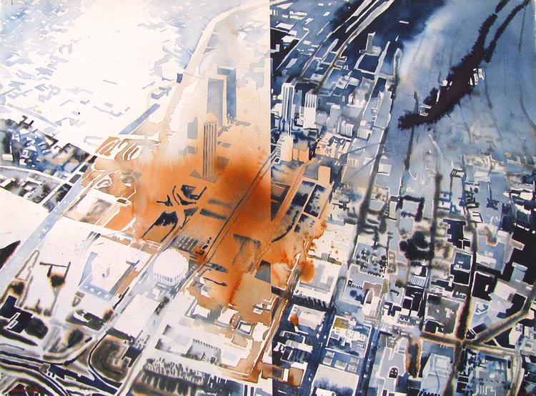 'Los Angeles', 2008, ett konstverk av Erik Hårdstedt