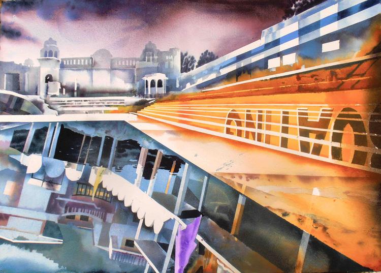'Pushkar/Rishikesh', 2014, ett konstverk av Erik Hårdstedt