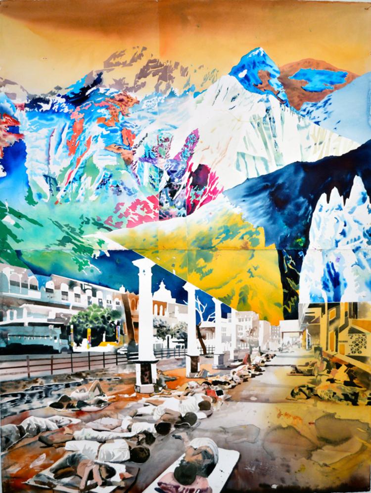 'På hög höjd', 2013, ett konstverk av Erik Hårdstedt