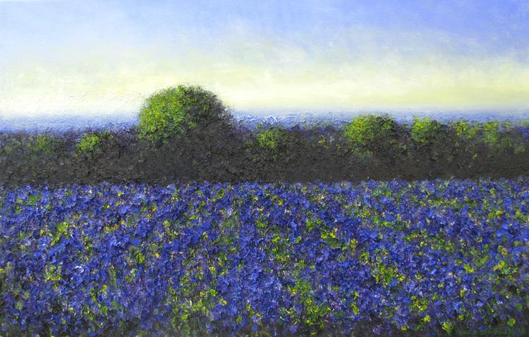 'Blue Bell', 2018, ett konstverk av John Stockwell