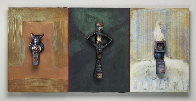 'Triptyk I', ett konstverk av Bertil Vallien