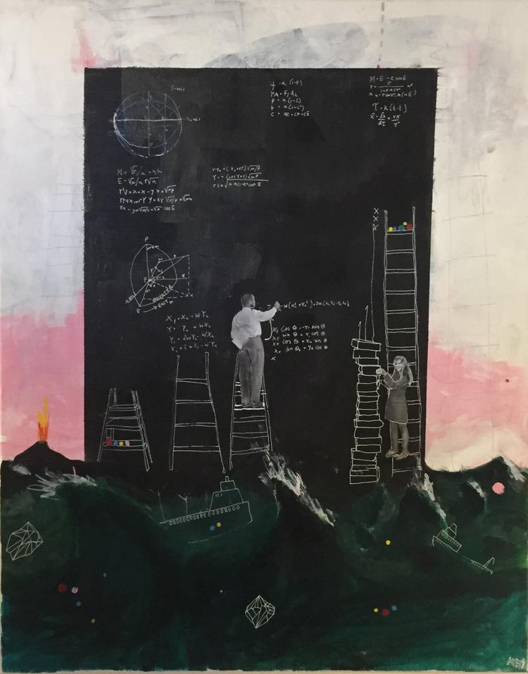 'Jobbar på det', 2017, ett konstverk av Marit Bergelin Ilis