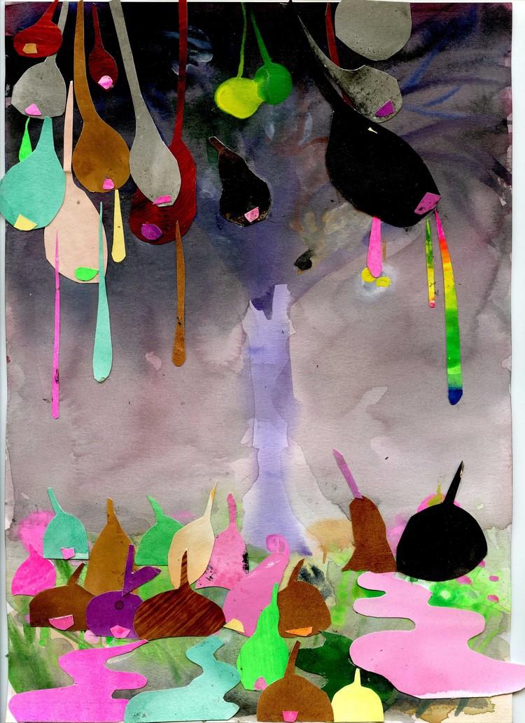 """'""""Strange, and not so strange, events in and around a tree""""', 2018, ett konstverk av Oskar Nilsson"""
