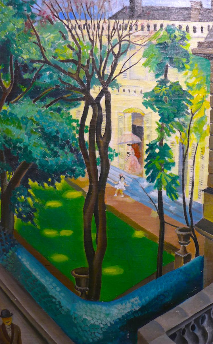 'Grevens trädgård', 1922, ett konstverk av Tyra Lundgren