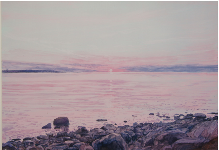 'Sunset ', 2017, ett konstverk av Gustaf von Arbin
