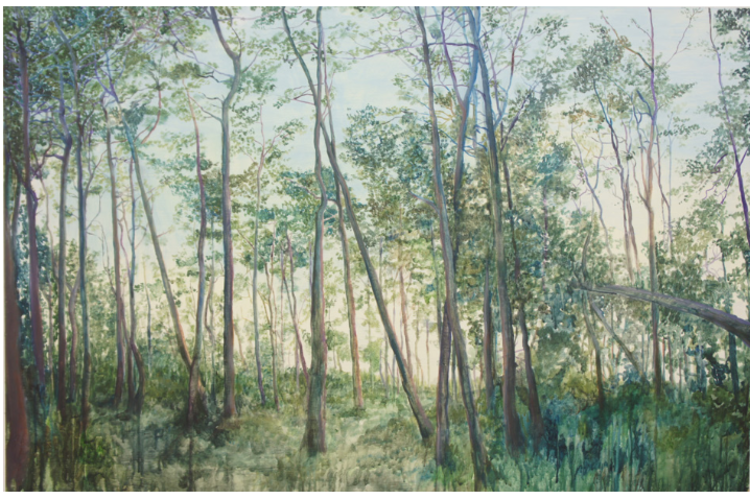 'Strandskogen', 2017, ett konstverk av Gustaf von Arbin
