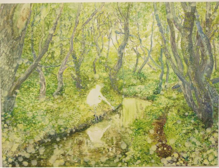 'Floden', 2017, ett konstverk av Gustaf von Arbin