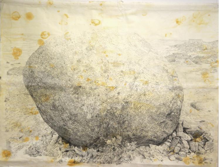 'Sankta Thoras Sten', 2017, ett konstverk av Gustaf von Arbin
