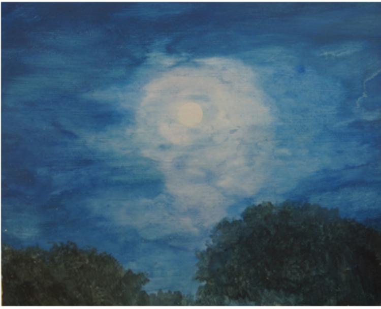 'Moon', 2017, ett konstverk av Gustaf von Arbin