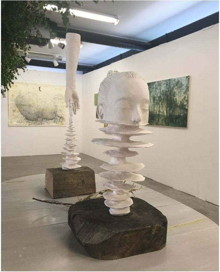 'Head reflection ', 2017, ett konstverk av Gustaf von Arbin