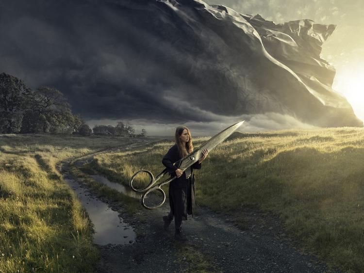 'Cutting Dawn ', 2015, ett konstverk av Erik Johansson