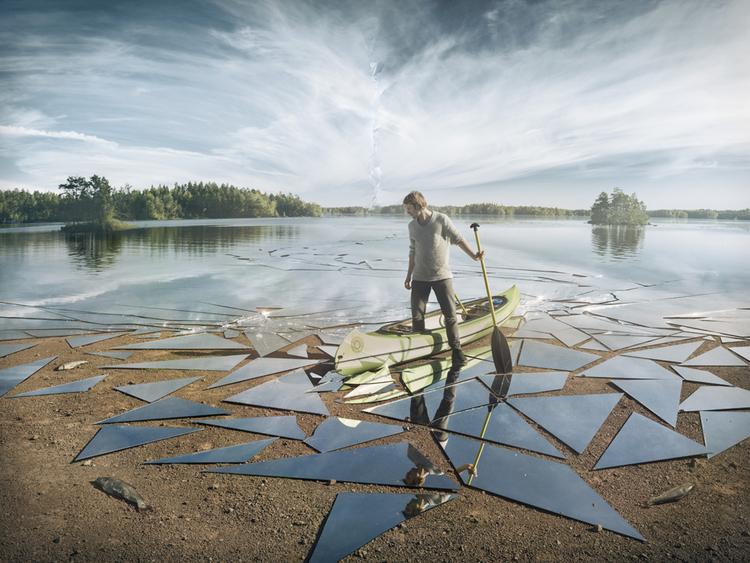 'Impact ', 2016, ett konstverk av Erik Johansson
