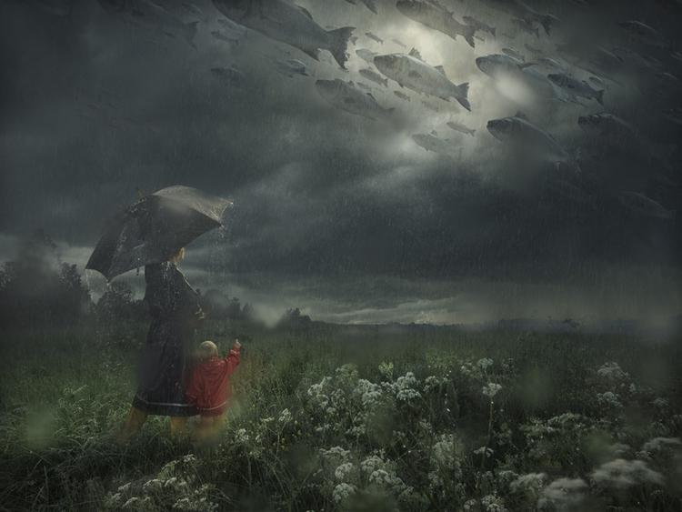 'Lost in the Rain', 2016, ett konstverk av Erik Johansson