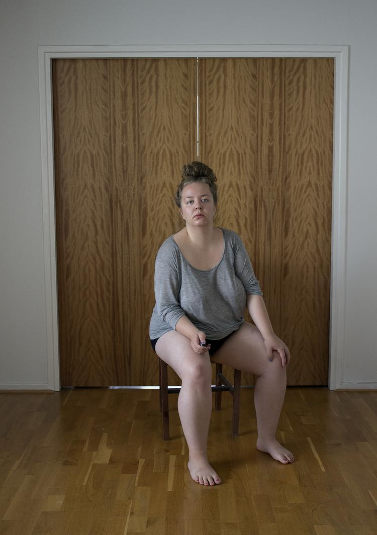 'Portrait of an artist weighing 100 kilograms', 2015, ett konstverk av Hinni Huttunen