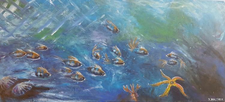 'School of fish', 2016, ett konstverk av Yvonne Walther
