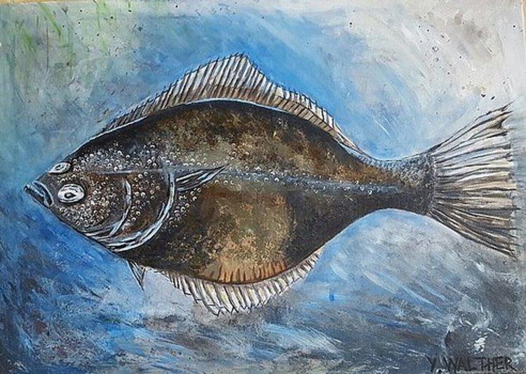'European Flounder', 2017, ett konstverk av Yvonne Walther