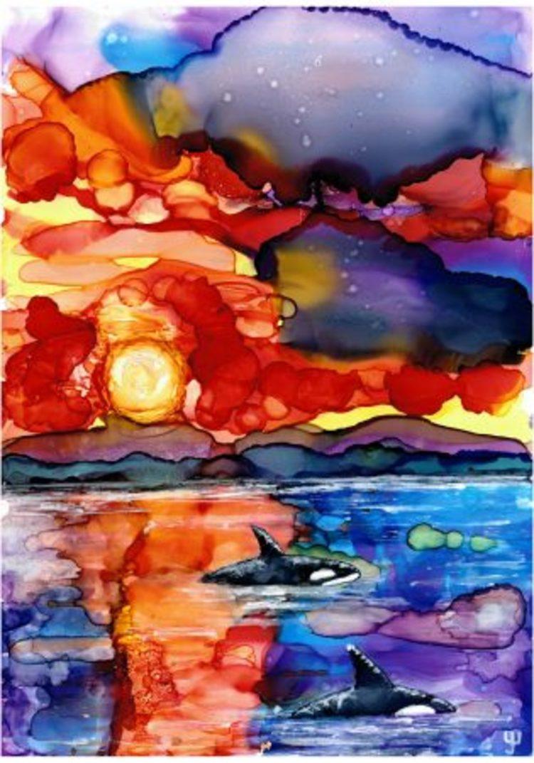 'Ett hav av färger', 2019, ett konstverk av Yvonne Walther