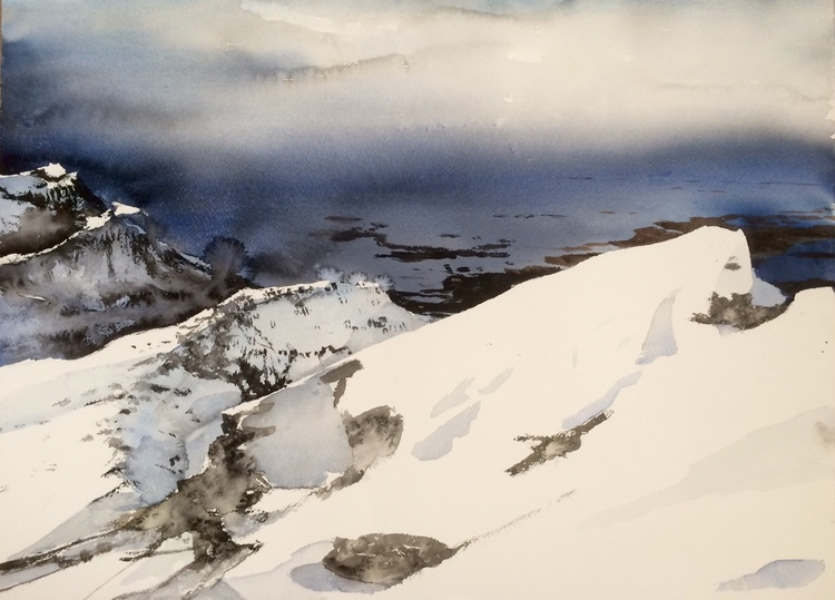 'Lofoten Norway', 2017, ett konstverk av Peter Eugén Nilsson