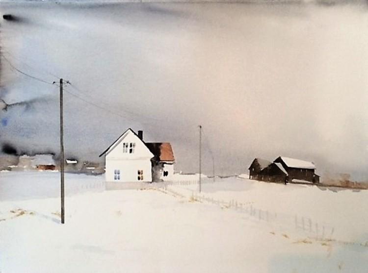 'Ensam på torpet / Lappland', 2016, ett konstverk av Peter Eugén Nilsson