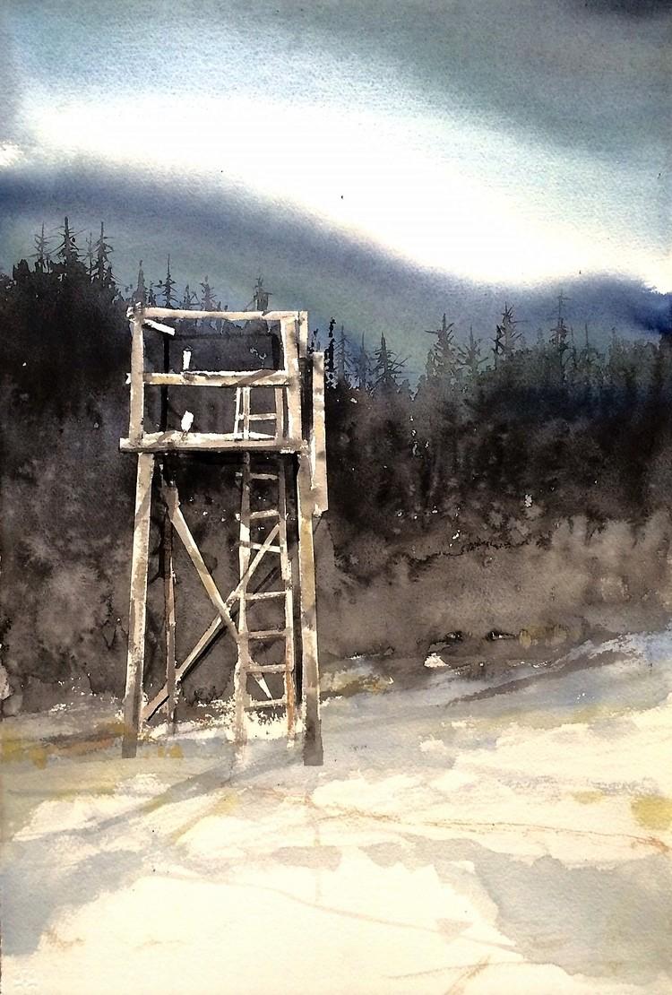 'Jakttornet / Ramsele', 2017, ett konstverk av Peter Eugén Nilsson