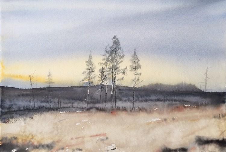 'Höst i Ångermanland', 2017, ett konstverk av Peter Eugén Nilsson