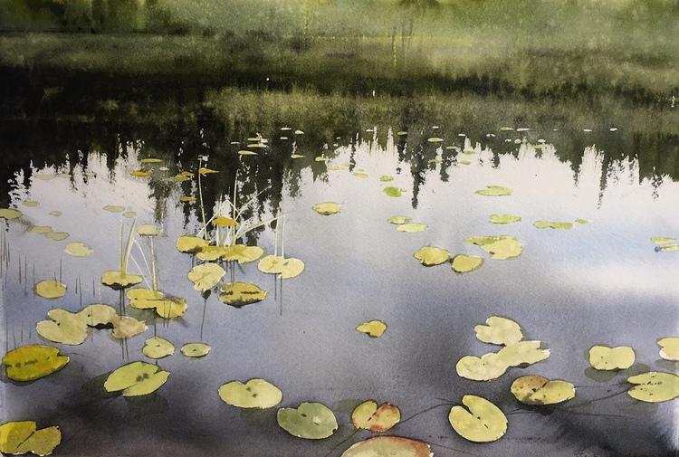 'Waterlily / Sweden', 2017, ett konstverk av Peter Eugén Nilsson
