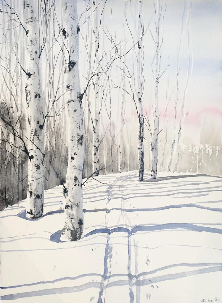 'Birches / Sweden', 2017, ett konstverk av Peter Eugén Nilsson