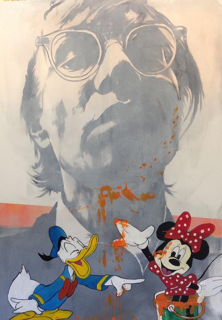'Andy Warhol VS Disney', 2017, ett konstverk av Peter Eugén Nilsson