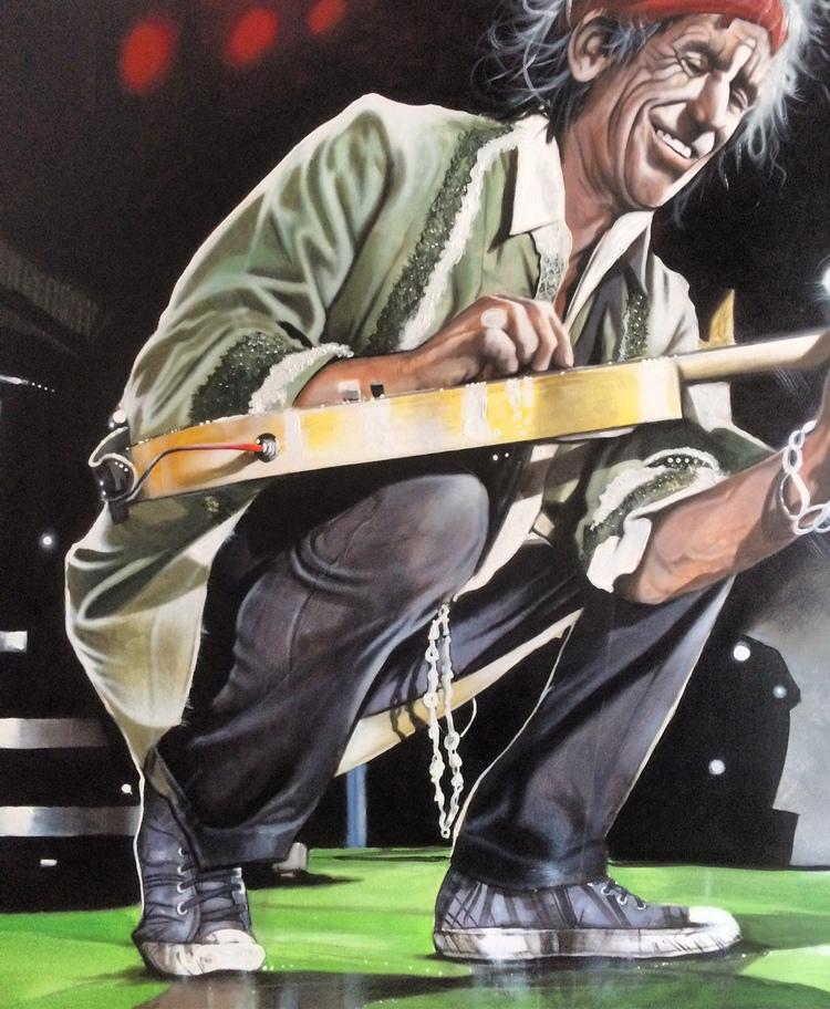 'Keith Richards on stage', 2017, ett konstverk av Peter Eugén Nilsson