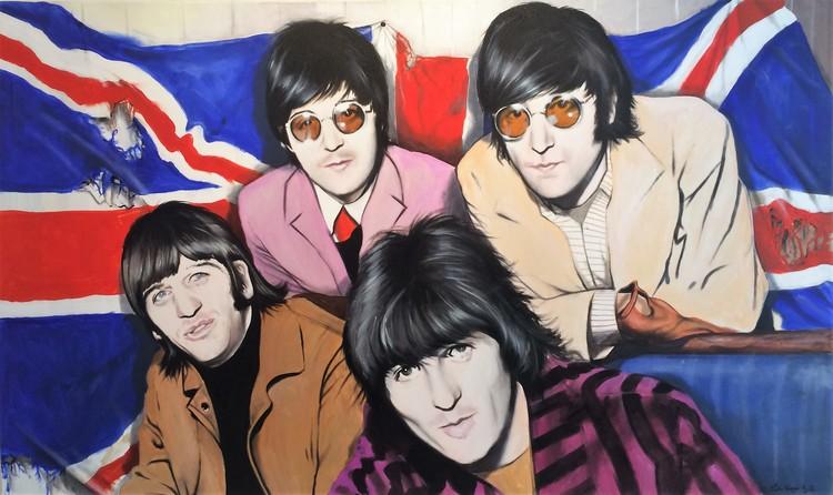 'The Beatles UK FLAG', 2017, ett konstverk av Peter Eugén Nilsson
