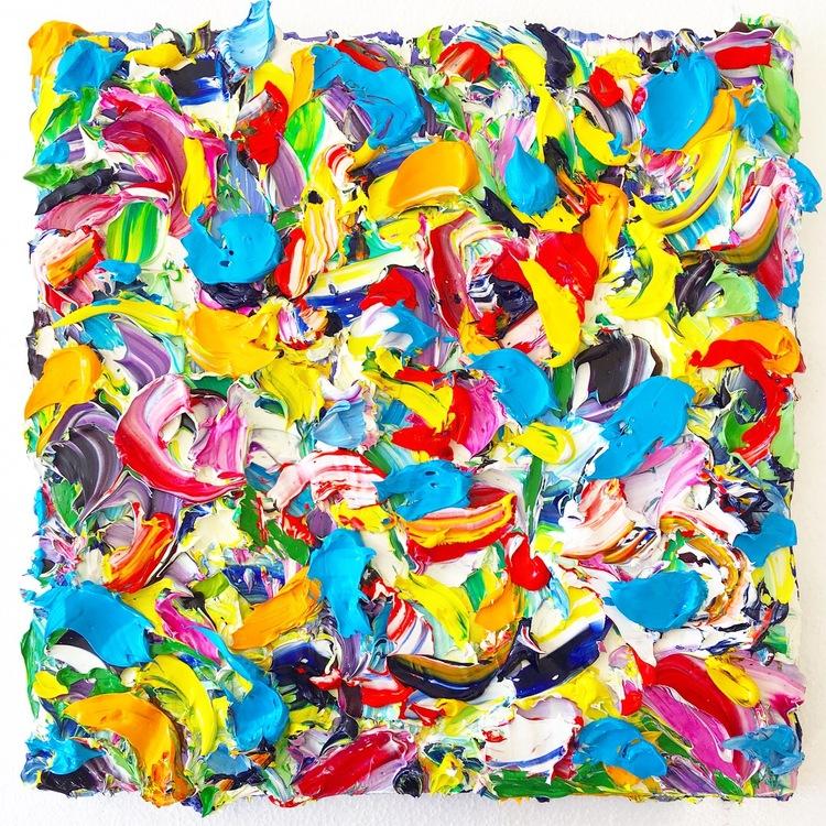 'Color frenzy', 2018, ett konstverk av Anna Afzelius-Alm