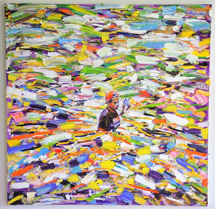 'Waist deep in Waste', 2018, ett konstverk av Anna Afzelius-Alm