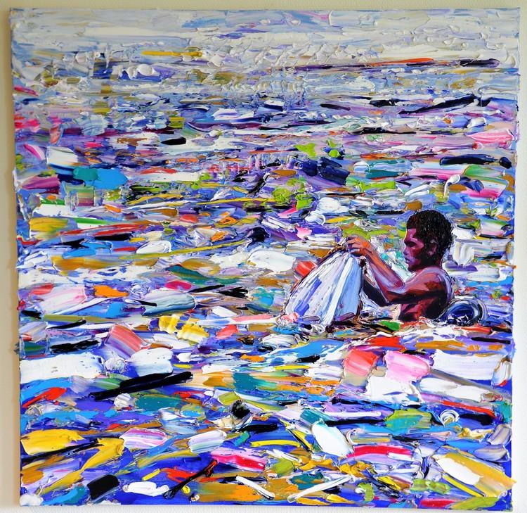 'Ocean waste - worth collecting', 2018, ett konstverk av Anna Afzelius-Alm