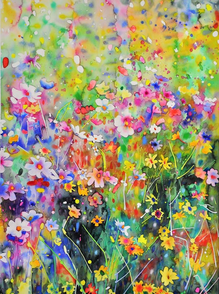 'Flower Universe', 2019, ett konstverk av Anna Afzelius-Alm