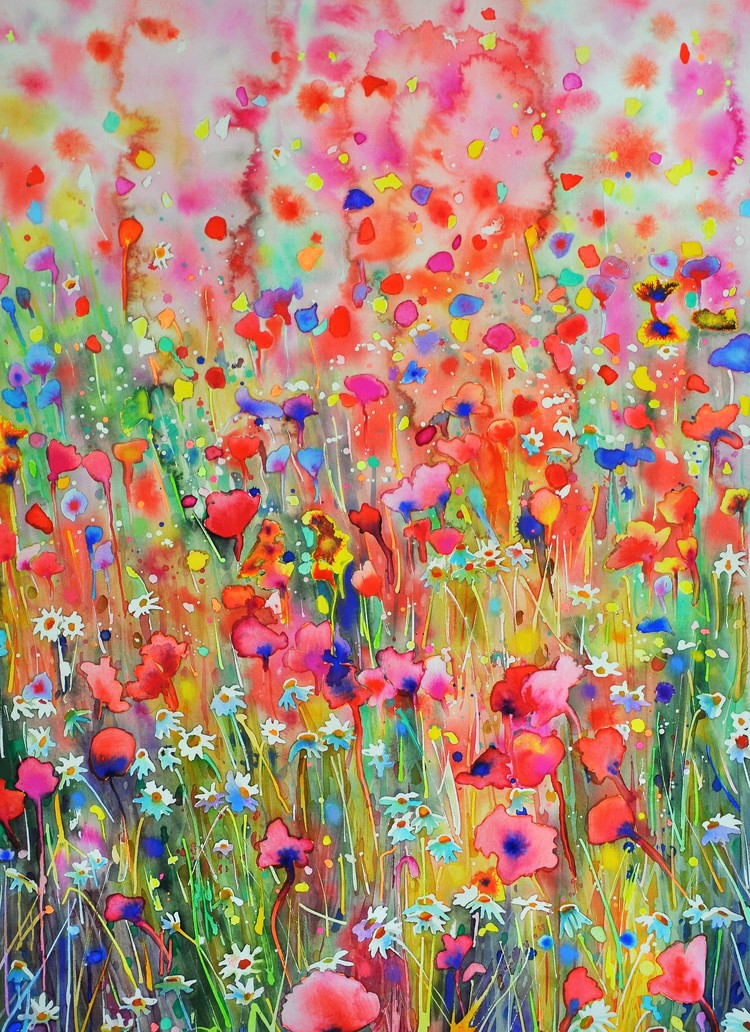 'Pink Passion', 2019, ett konstverk av Anna Afzelius-Alm